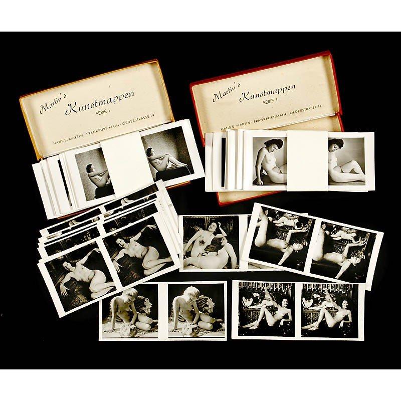 "425: Stereo Nude Cards ""Martin's Kunstmappen"""