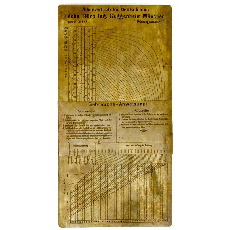 "11: Physical Slide Rule ""Section Indicator"" c. 1922"