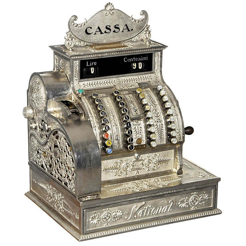 "16: Cash Register ""National"" Model 83, c. 1900"