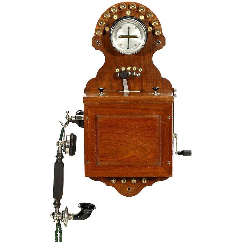 "37: Large Wall Telephone"" L. M. Ericsson"", c. 1895"
