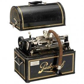 "Electric Dictating Machine ""Parlograph"", C. 1910"