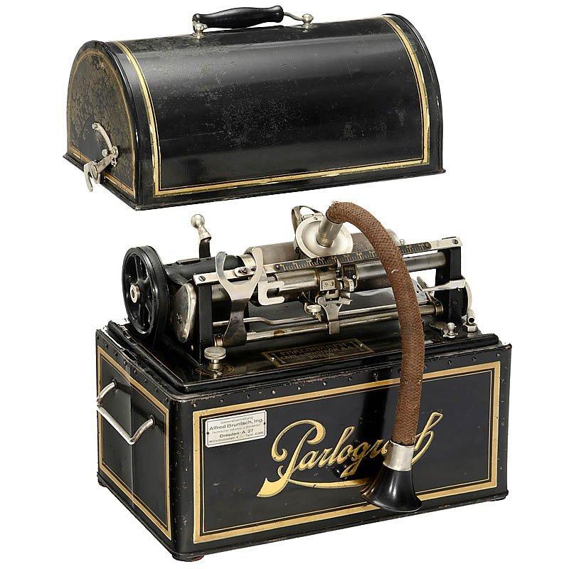 "55: Electric Dictating Machine ""Parlograph"", c. 1910"