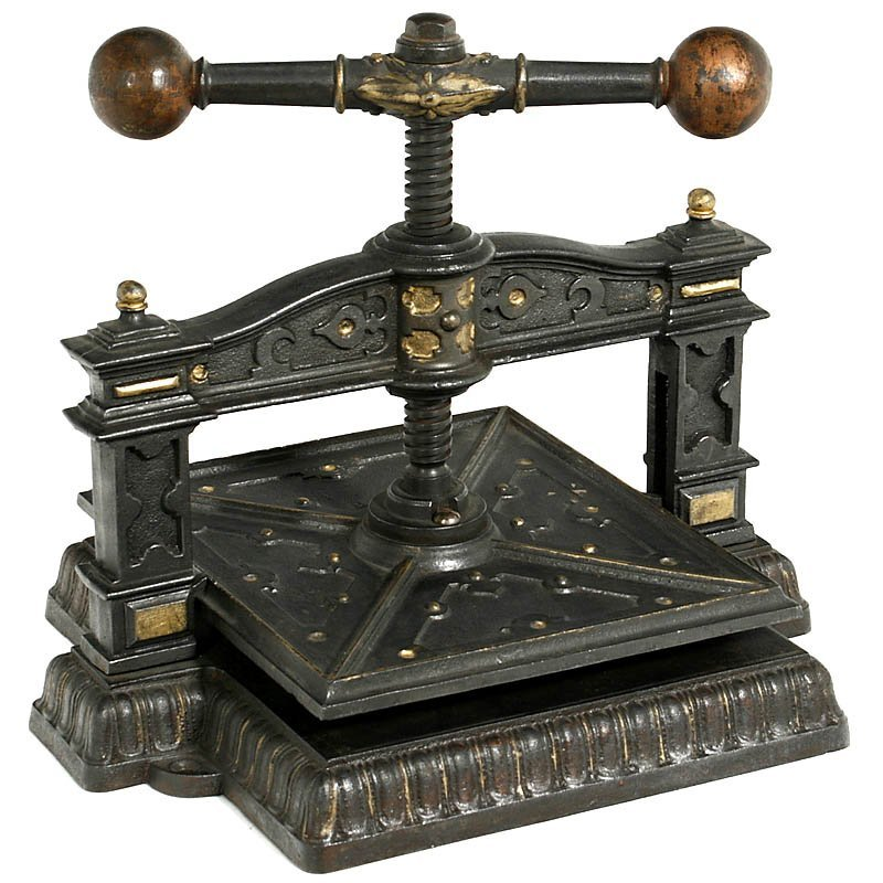 58: Early Document Copying Press, c. 1880