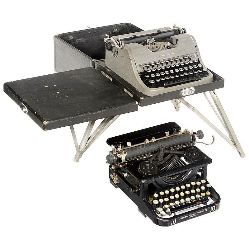 69: Portable Typewriter Set by Underwood, c. 1950