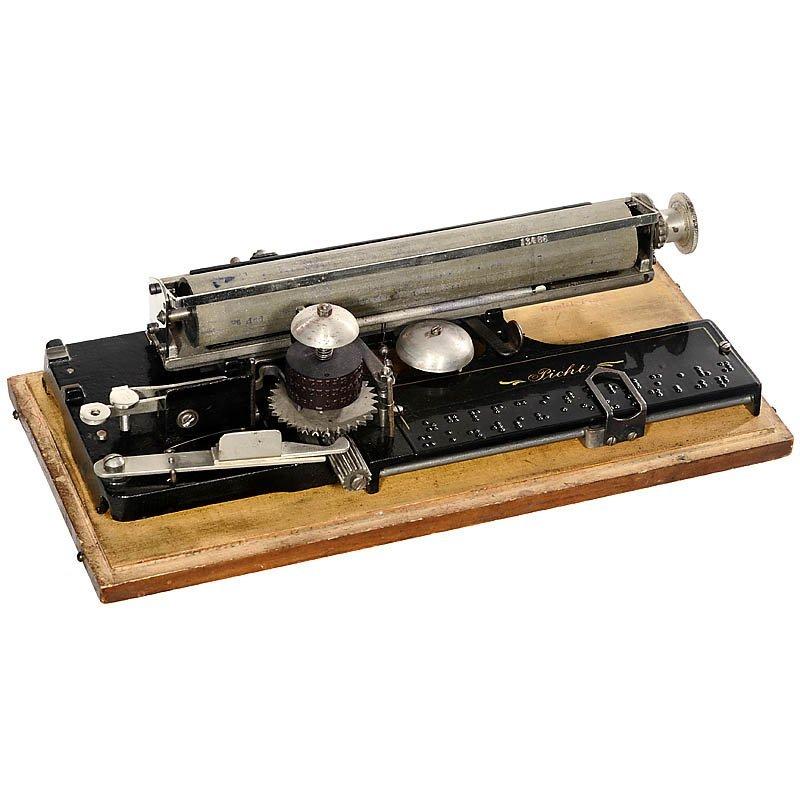 """71: German Index Typewriter """"Picht"""", 1907"""