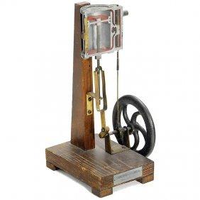 Cutaway Model Of A Steam Cylinder, C. 1925