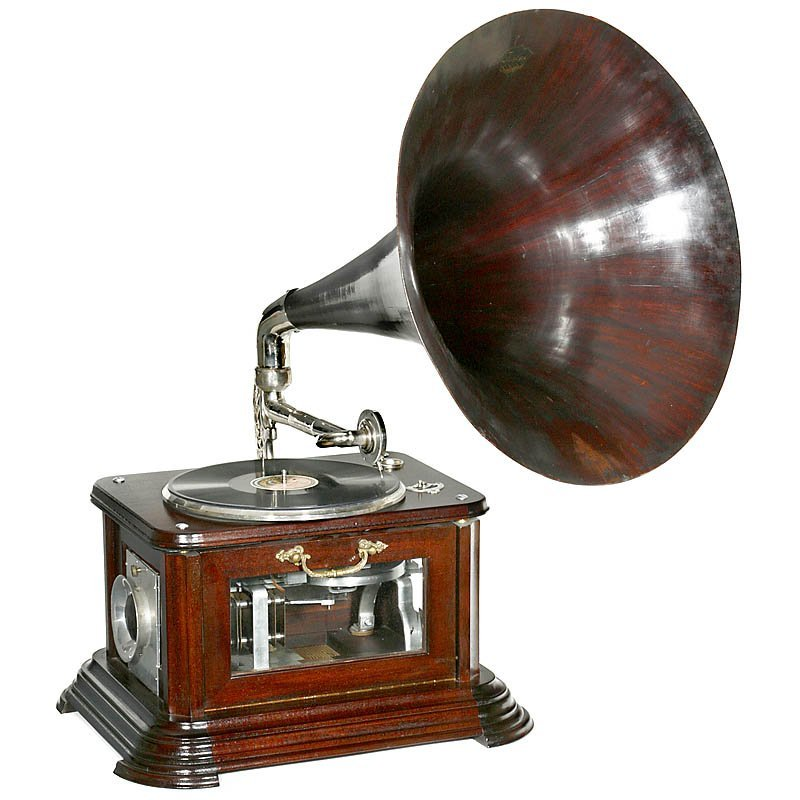 646: Reproduction Stirling Hot-Air Engine Gramophone