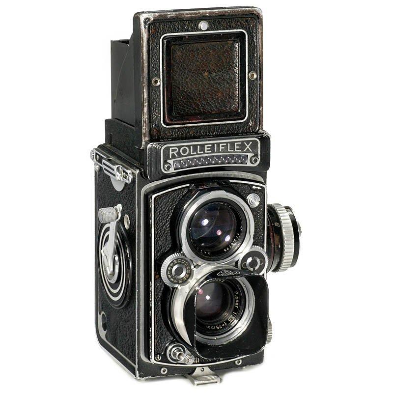 """9: Rolleiflex 3,5 C """"Sem Presser"""", 1956"""