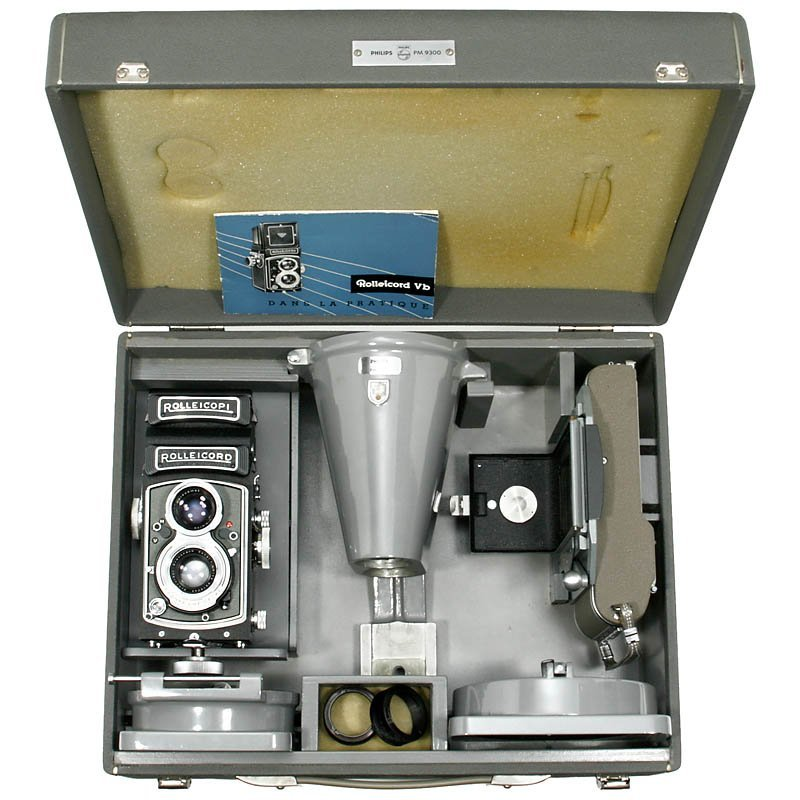 """18: Large Philips Outfit """"Rolleicord Vb"""", 1966"""