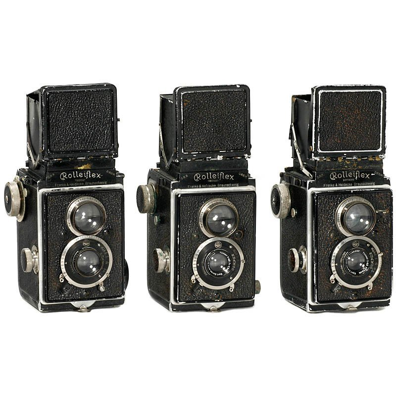 20: 3 Early Rolleiflex TLR Cameras, 1929