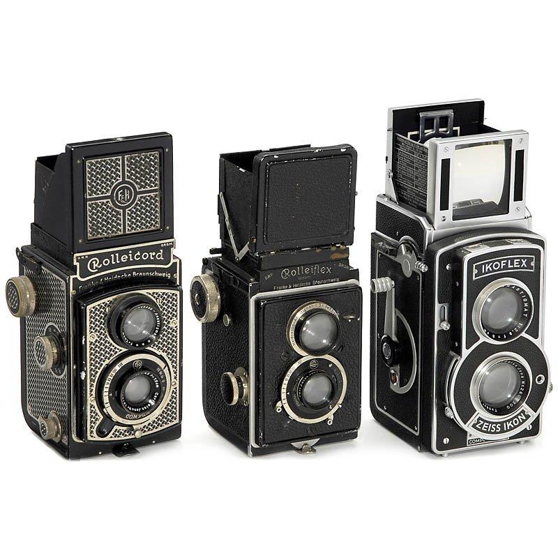 "24: Rolleiflex 3,8, ""Tapeten-Rollei"" and Ikoflex III"
