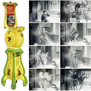 "660: Mutoscope ""Indian Head"" with Charlie Chaplin Movie"