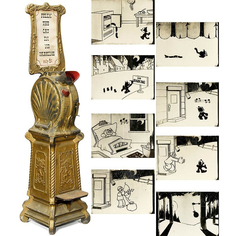 """664: Cast-Iron """"Clamshell"""" Mutoscope with Comic Reel"""