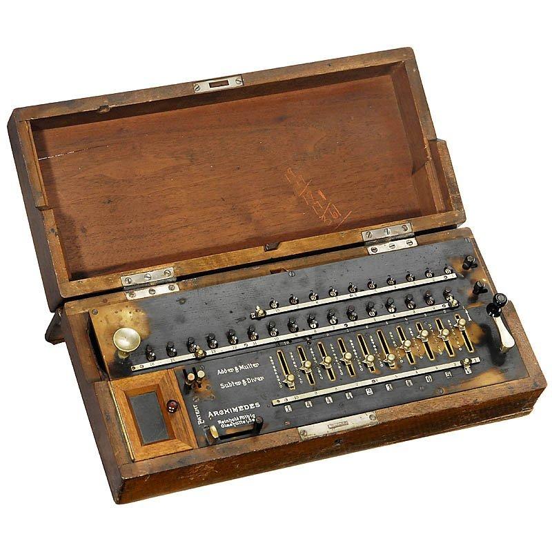 "15: Arithmometer ""Archimedes Mod. B"", 1906"