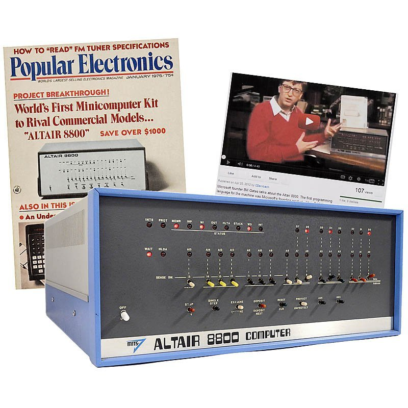 """21: """"MITS Altair 8800"""", 1975 - World's First P(ersonal)"""