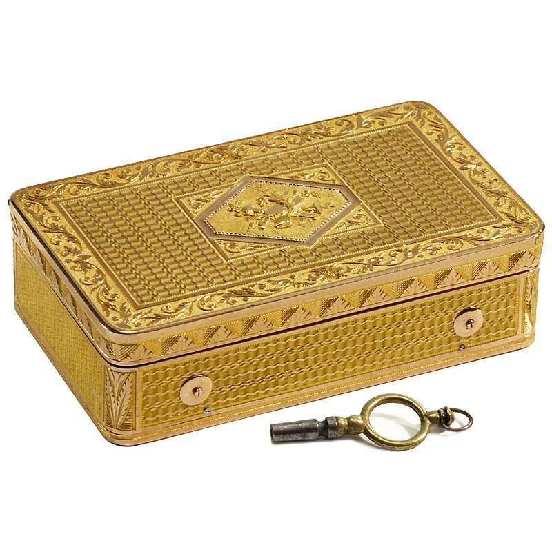 482: Fine Musical Gold Snuff Box, c. 1820