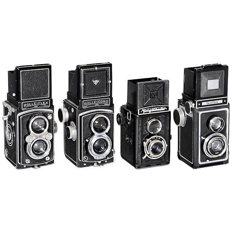 4 SLR Cameras 6 x 6 cm