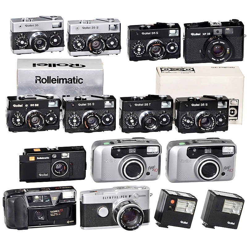 7 Rollei 35 Cameras and more Models