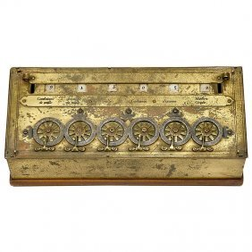 "Rare Six-Digit ""Pascaline"" Calculator by B. Pascal"