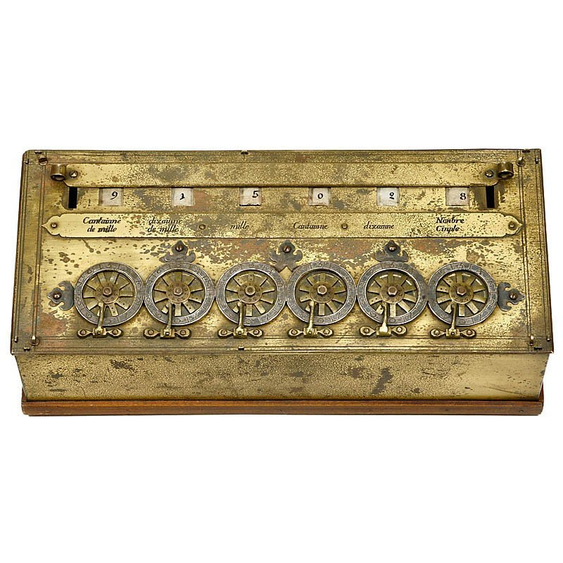 "Rare Six-Digit ""Pascaline"" Calculator by B. Pascal"
