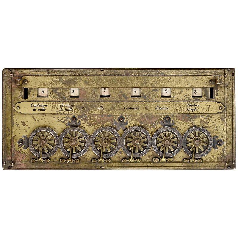 "Rare Six-Digit ""Pascaline"" Calculator by B. Pascal - 4"