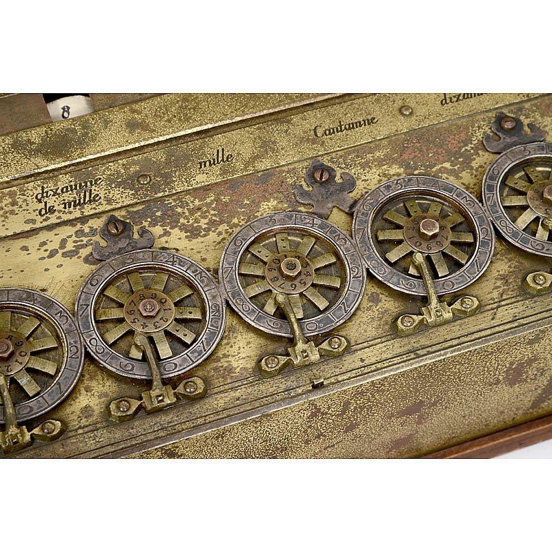 "Rare Six-Digit ""Pascaline"" Calculator by B. Pascal - 5"