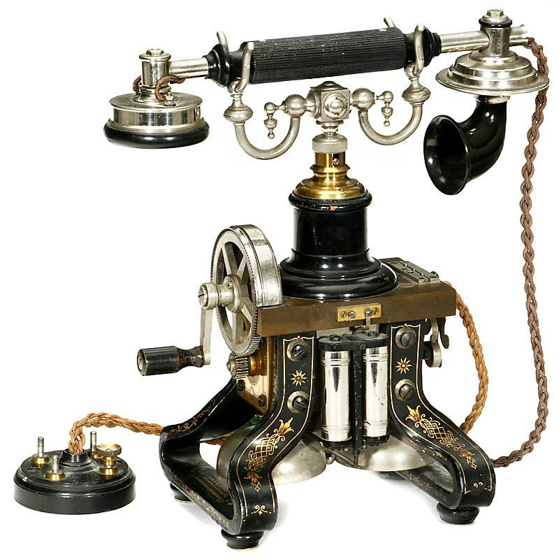 """Skeleton Telephone by """"L.M. Ericsson"""", from 1892"""