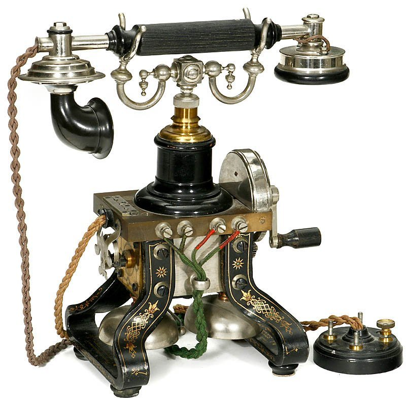 """Skeleton Telephone by """"L.M. Ericsson"""", from 1892 - 2"""