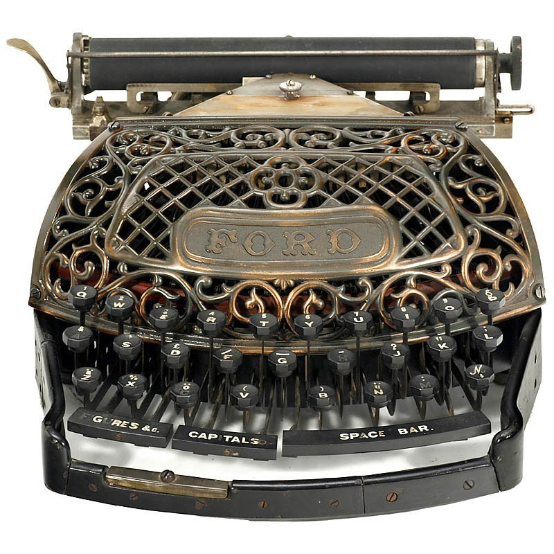 """Extremely Rare: """"The Ford Typewriter"""", 1895"""