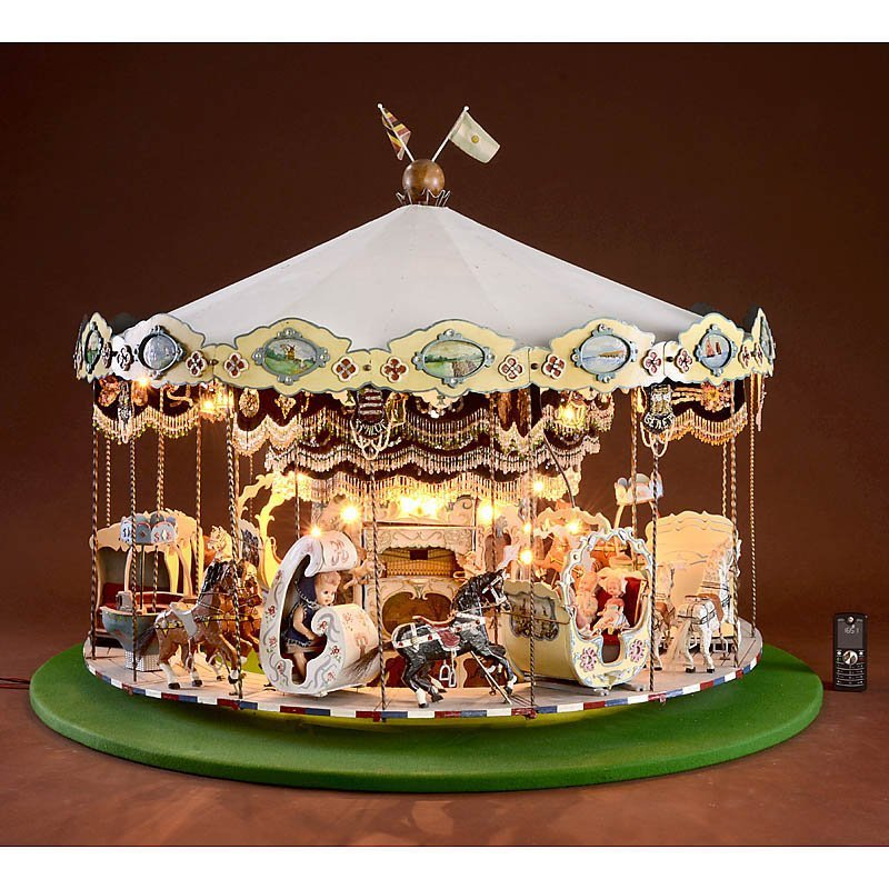 """Miniature Working Model of a """"Merry-Go-Round"""""""