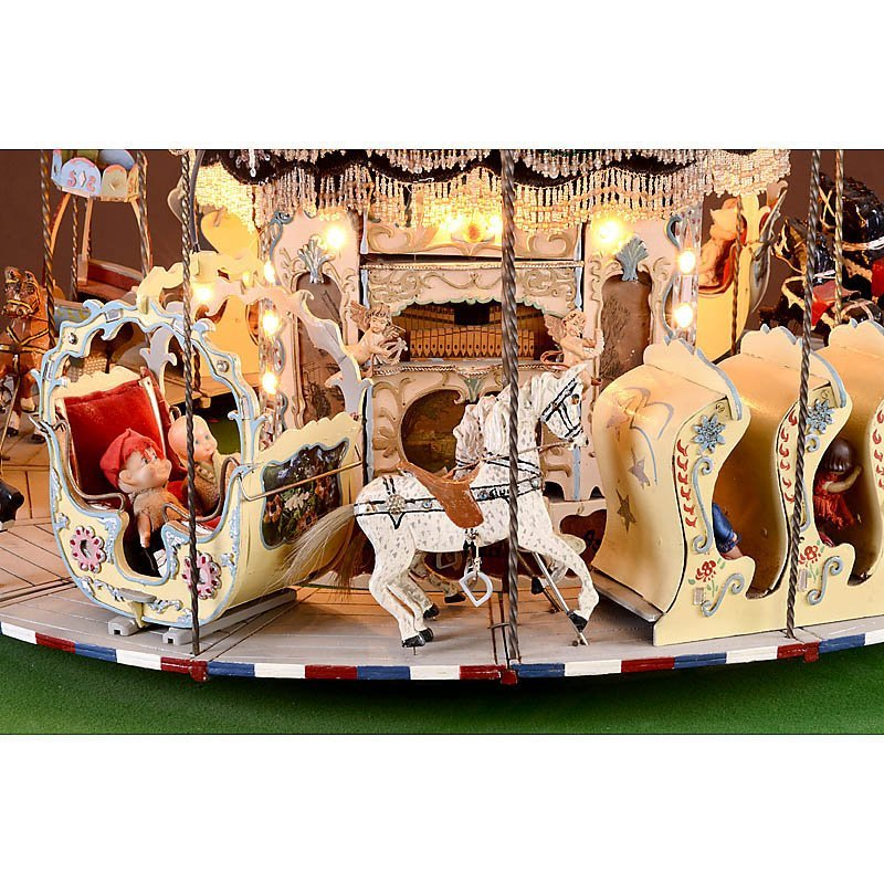 """Miniature Working Model of a """"Merry-Go-Round"""" - 2"""