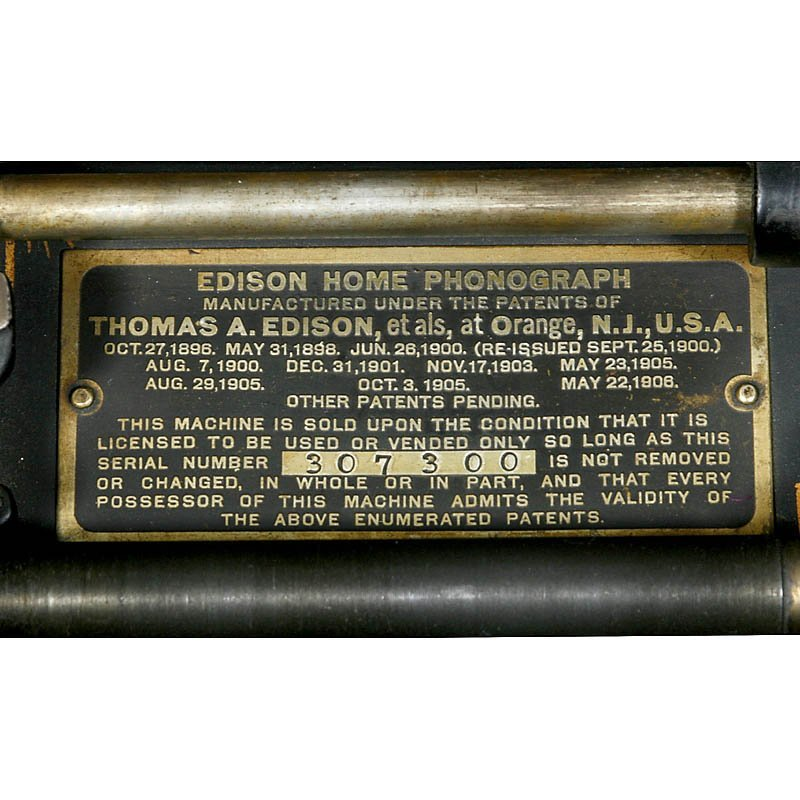 """Edison Home Model B"" Phonograph, c. 1908 - 2"