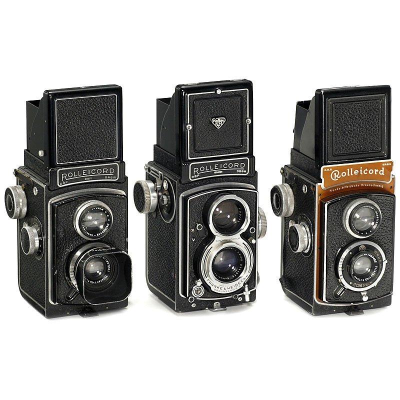 3 x Rolleicord, 1937–57
