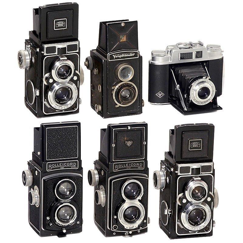5 TLR-Kameras and Isolette L