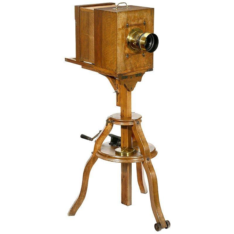 Sliding-Box Studio Camera by Alphonse Ninet, c. 1855