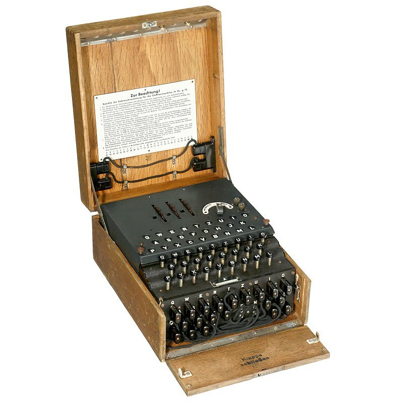 "Legendary German ""Enigma"" Cyphering Machine, 1944"