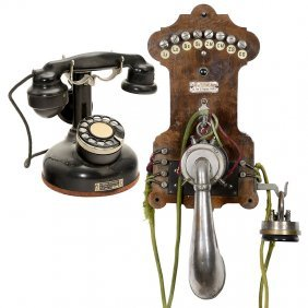 2 French Telephones