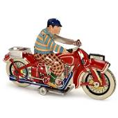 Rare Chinese Tin Toy Motorcycle, c. 1930