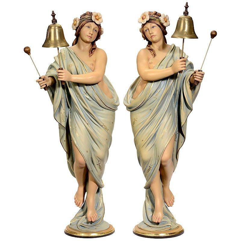Pair of German Fairground Organ Figures