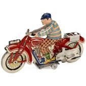 Rare Chinese Tin Toy Motorcycle by Kang Yuan, c. 1950