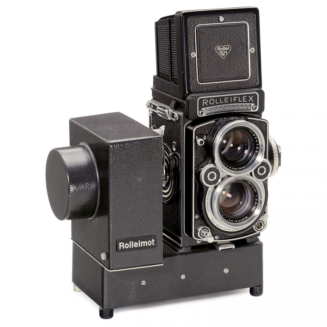 "Rolleiflex 2,8 F "" Xenotar"" with Rolleimot 1, 1973"