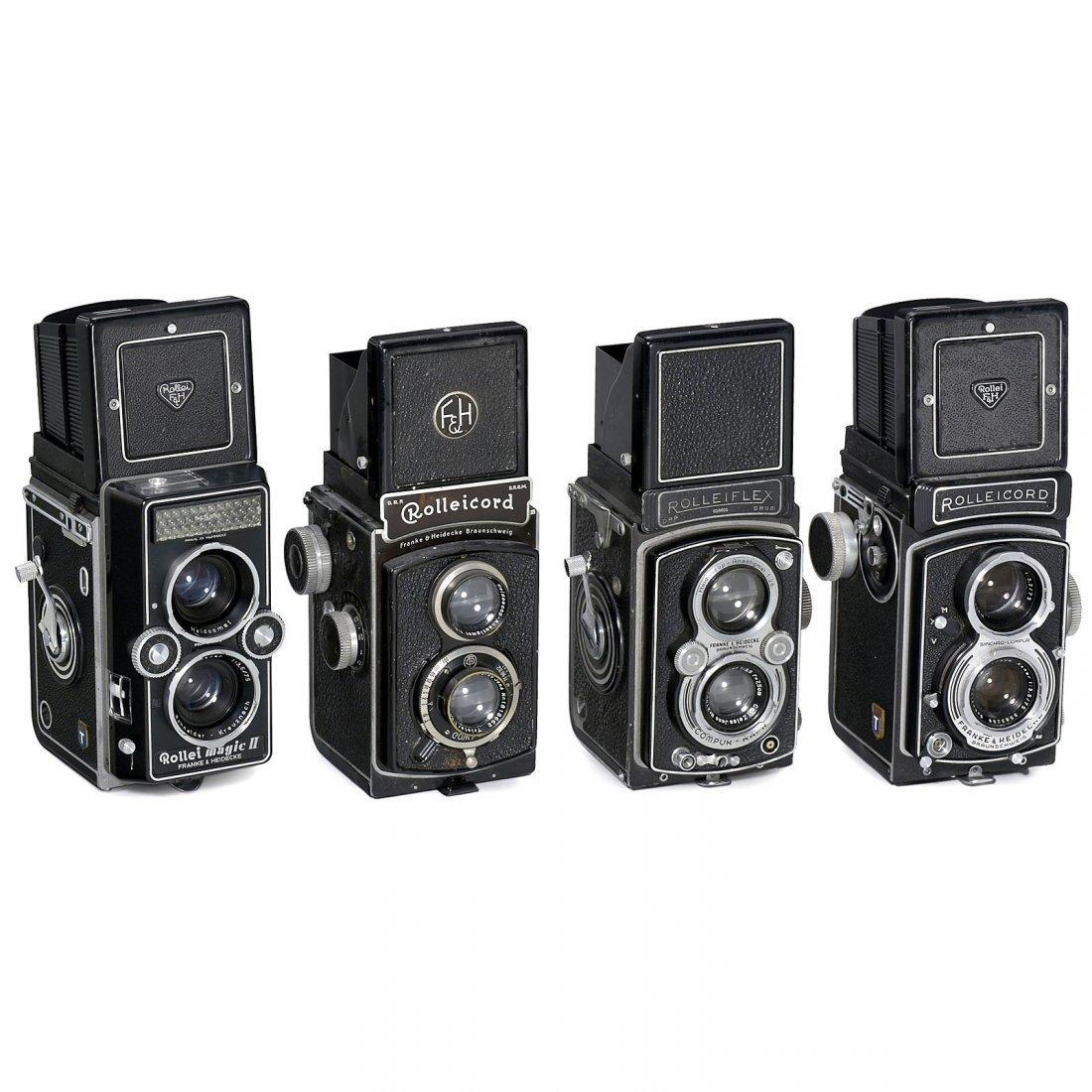 4 Rollei TLR Cameras