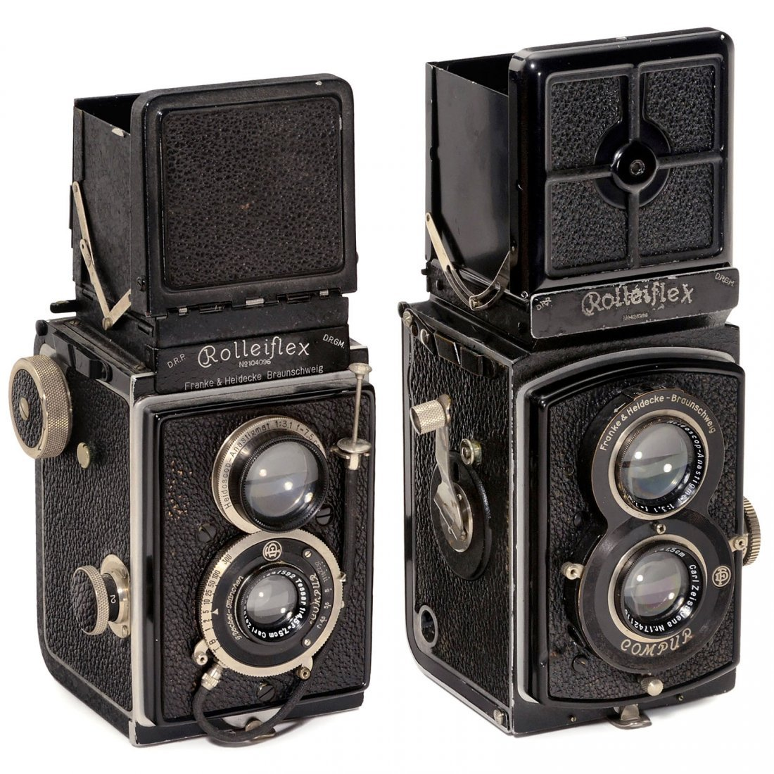 Rolleiflex 6 x 6 (1929) and Rolleiflex Standard 3,5