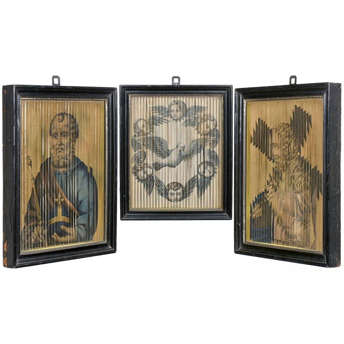 3 Tabula Stritta Pictures (Triscenorama = Three-Way - 3
