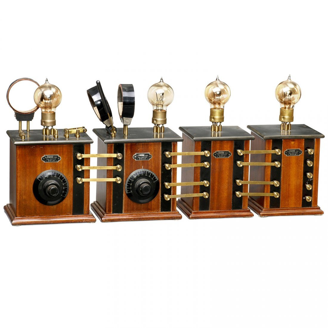 Very Rare French Component Radio by L. Charne, c. 1920