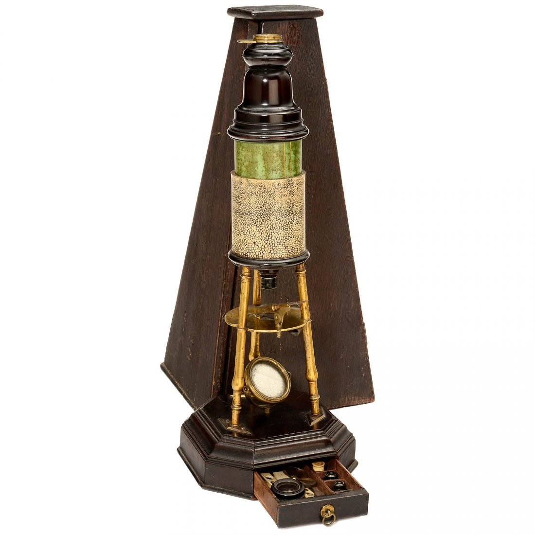 Culpeper-Style Tripod Compound Microscope, c. 1735