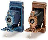 2 Hawk-Eye Rainbow No. 2A Cameras (Blue and Brown),