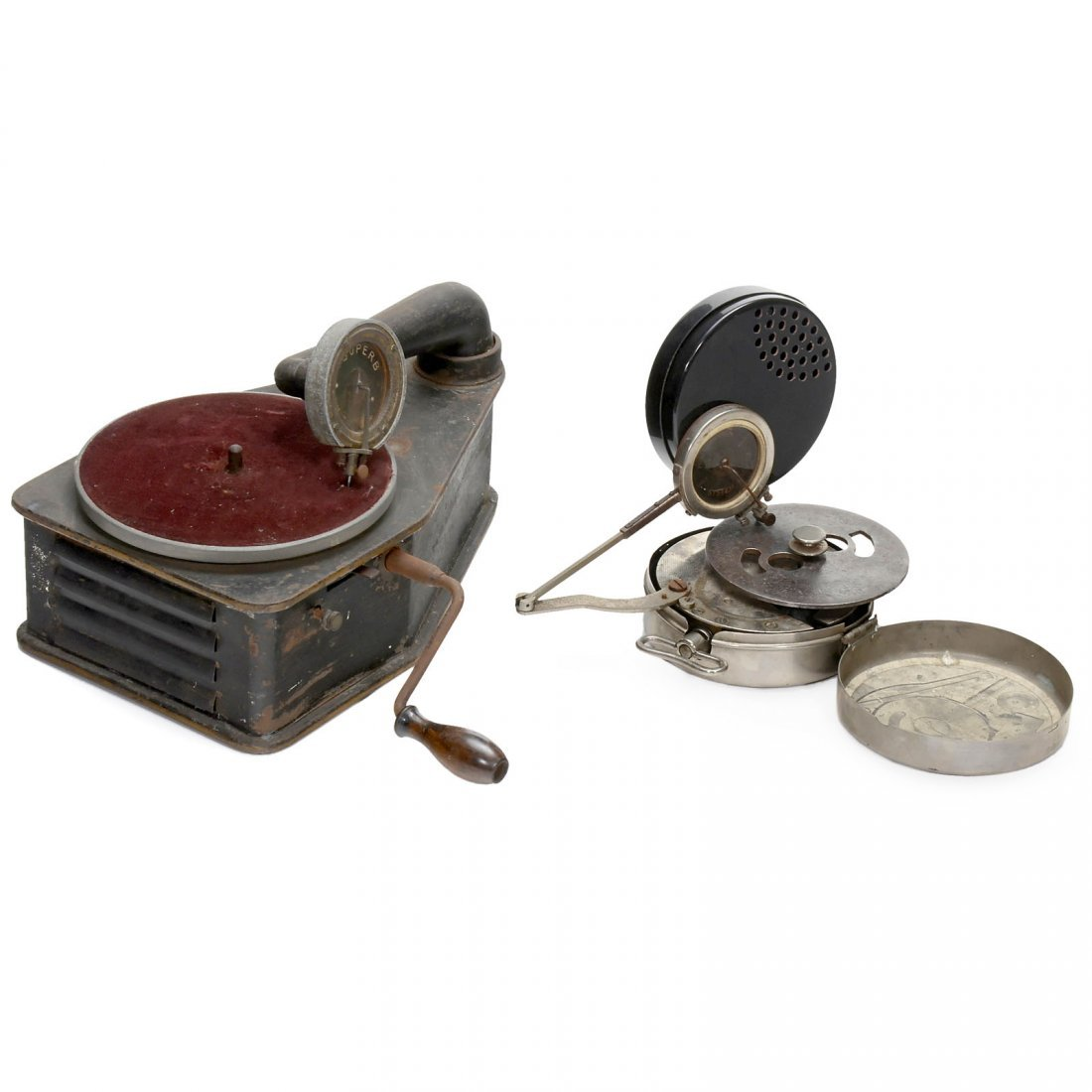 2 Minature Gramophones, from 1930