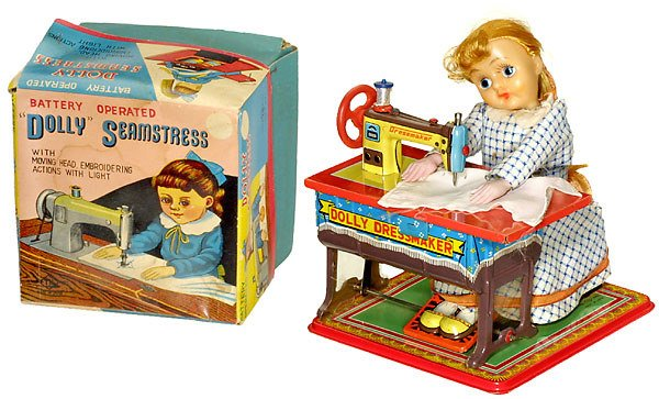 "158: Tin Toy Sewing Machine ""Dolly Dressmaker"", 1957"
