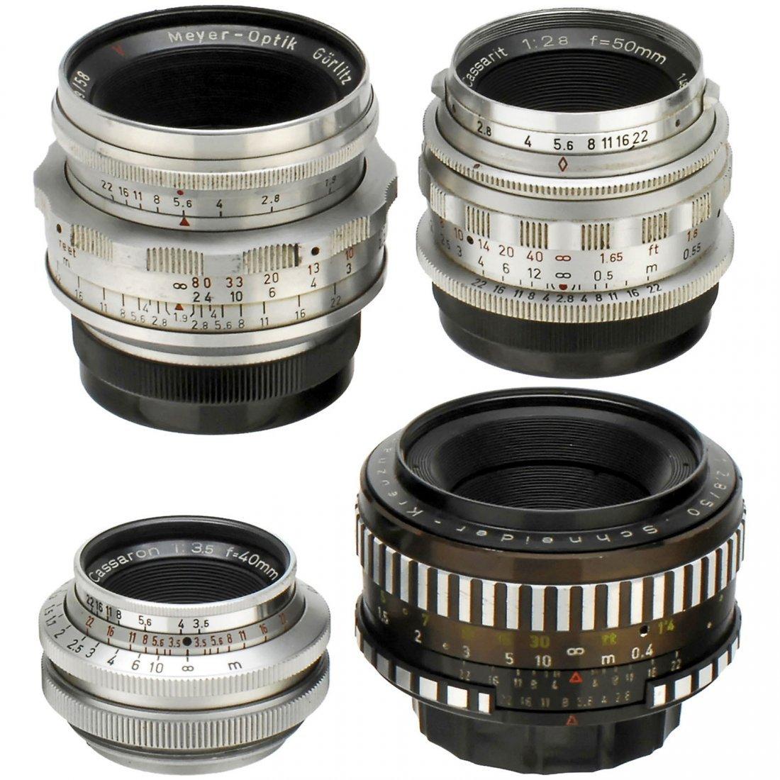 4 Lenses with M42 Screw-Mount